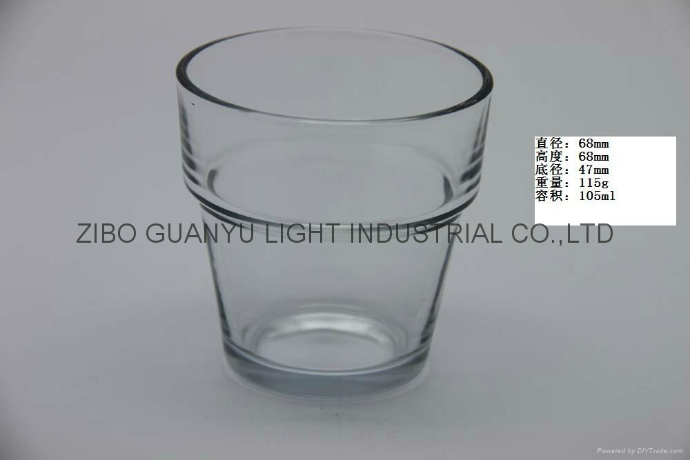 Sprayed double-layer glass cup,small wine glass cup 4