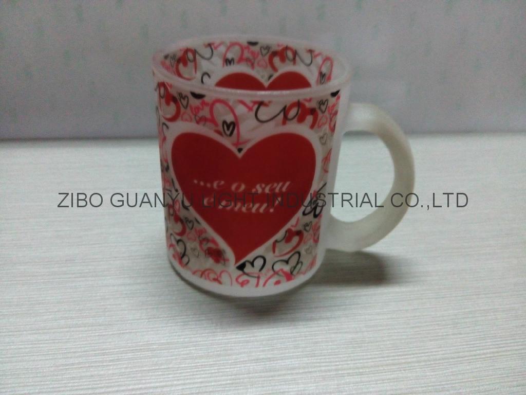 350ml sublimation glass mug 11oz 5