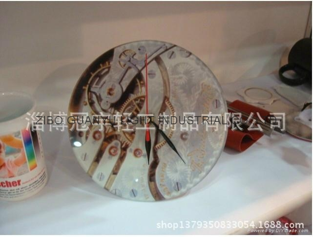 Glass Clock face, sublimation coated  1