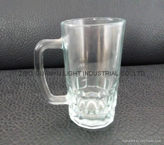 sublimation glass beer stein with handle 3