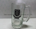 sublimation glass beer stein with handle 5