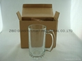 sublimation glass beer stein with handle 9
