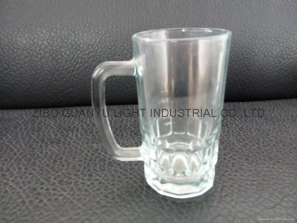 Beer stein glass mug with handle 2