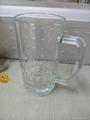 Beer stein glass mug with handle 1