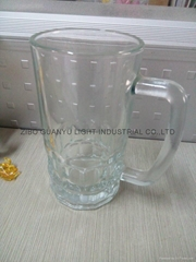 Beer stein glass mug with handle