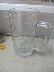 Beer stein glass mug with handle
