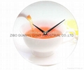 Sublimation coating glass clock 1