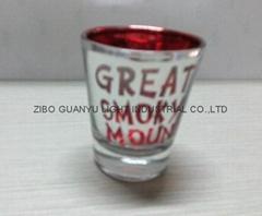 2oz laser engrared glass mug