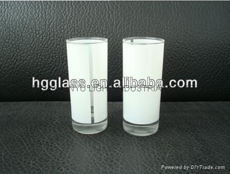 2.5OZ Sublimation glass mug with white panel 1
