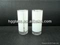2.5OZ Sublimation glass mug with white