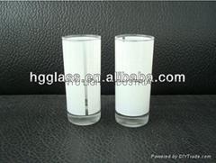 2.5OZ Sublimation glass mug with white panel