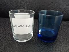 10OZ Sublimation glass mug with white panel candle mug