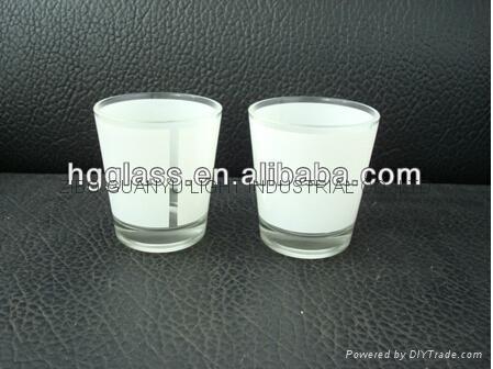 50ml  sublimation mug with white panel glassware mug 1