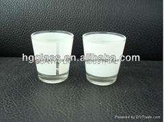 50ml  sublimation mug with white panel glassware mug