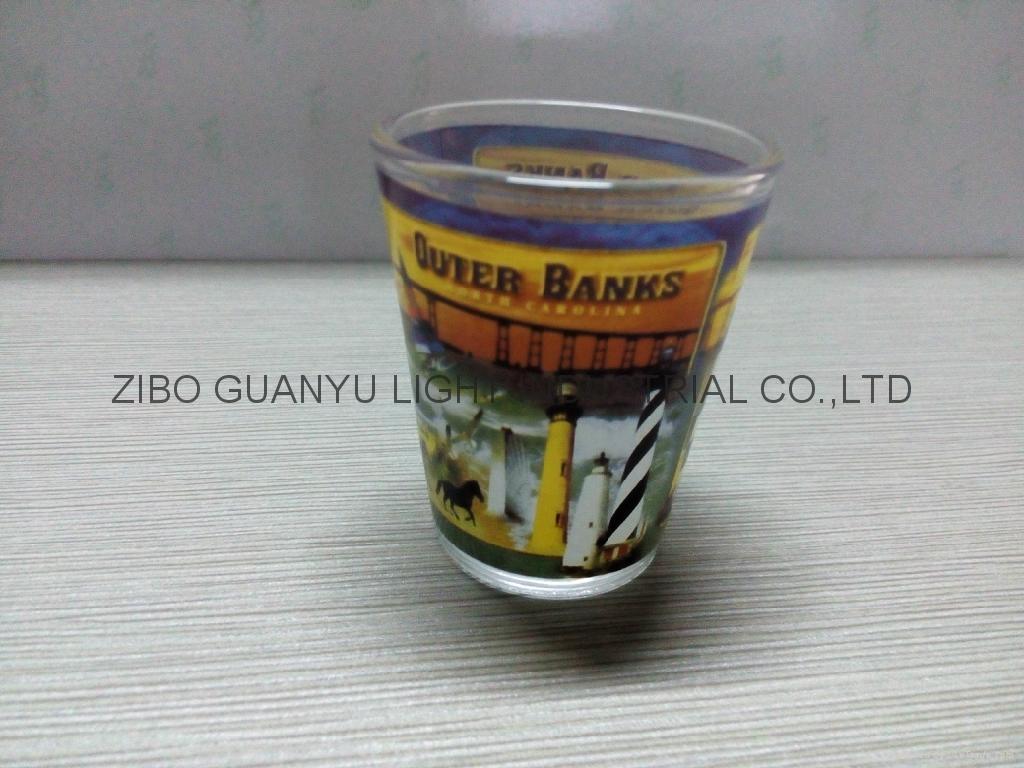 50ml sublimation  shot glass mug glassware with decal 4