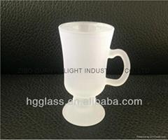 Outside frosted inside clear sublimation  ireland glass mug