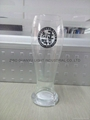 520ml clear Glass beer stein with decal