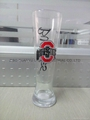 680ml clear Glass beer stein with decal