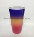 rainbow color glass mug