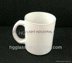11oz Sublimation White glass mug glassware