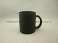 Black color change glass mug