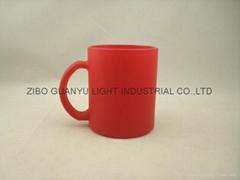 Red Color change glass mug
