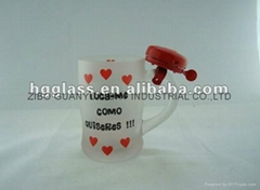 Promotional glass mug with bell