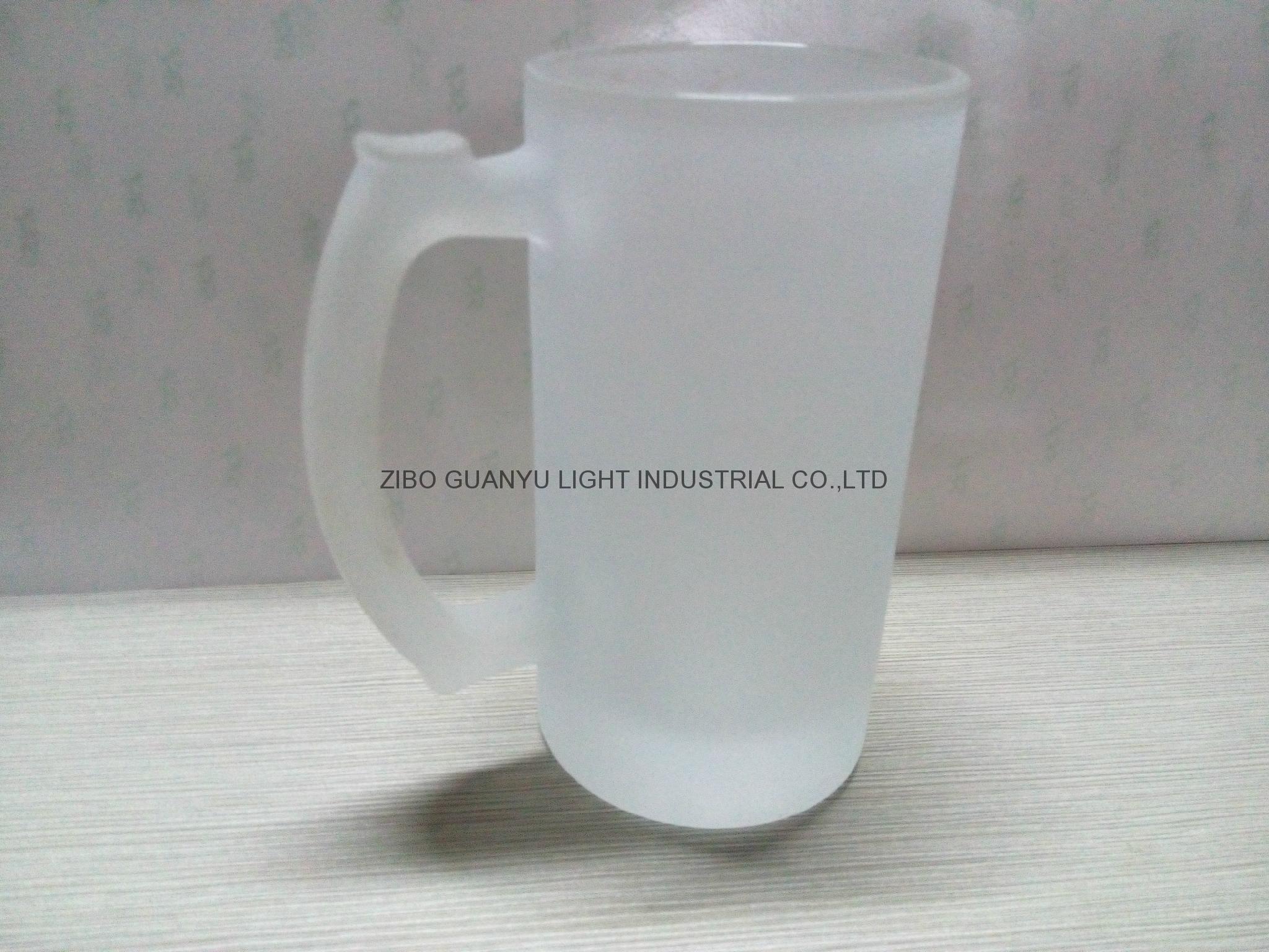 16oz  Sublimation glass mug 2