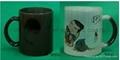11oz balck  change glass mug