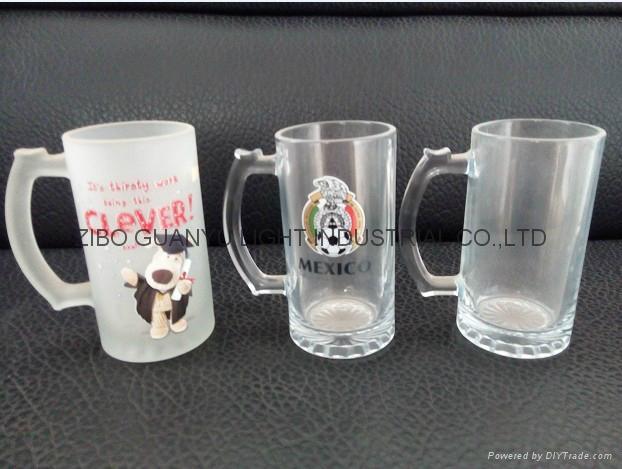 Sublimation glass beer stein glass mug 1