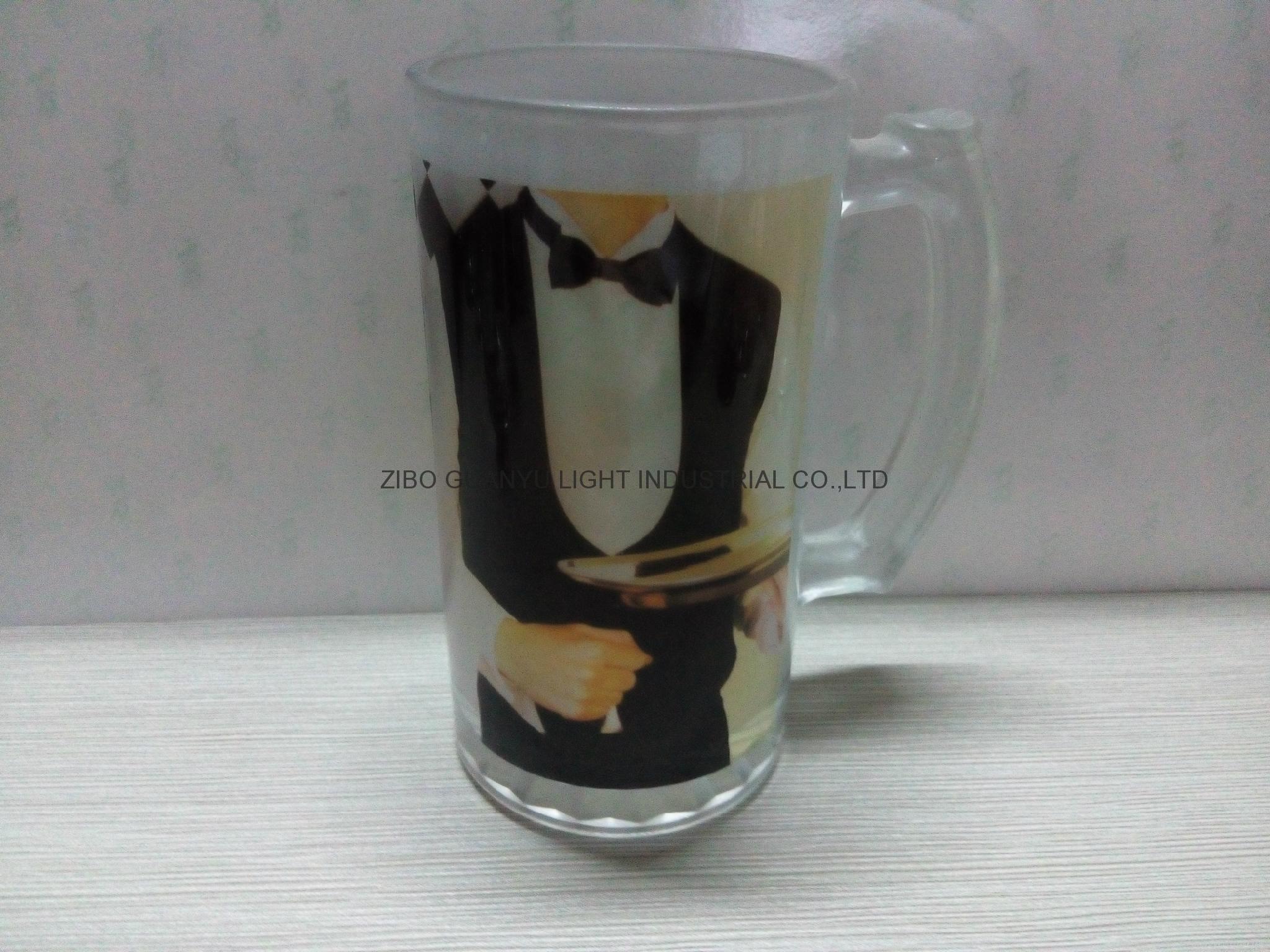 Sublimation glass beer stein glass mug 2