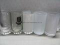 Sublimation glass beer stein glass mug 4