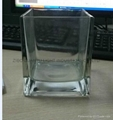 Square shaped glass candle holder