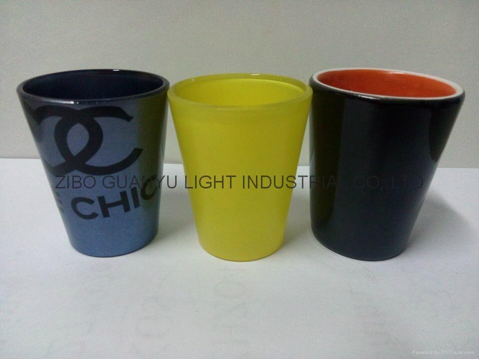50ML coloful Sublimation shot glass  2