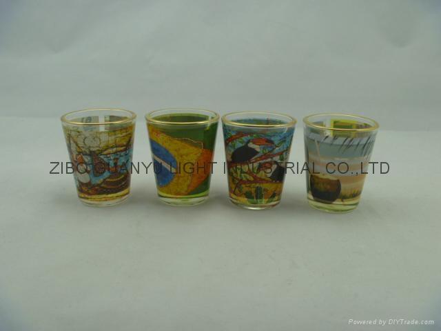 Sprayed shot glass glassware 4