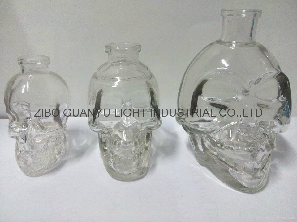 The skeleton glass bottle