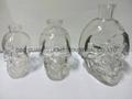 The skeleton glass bottle