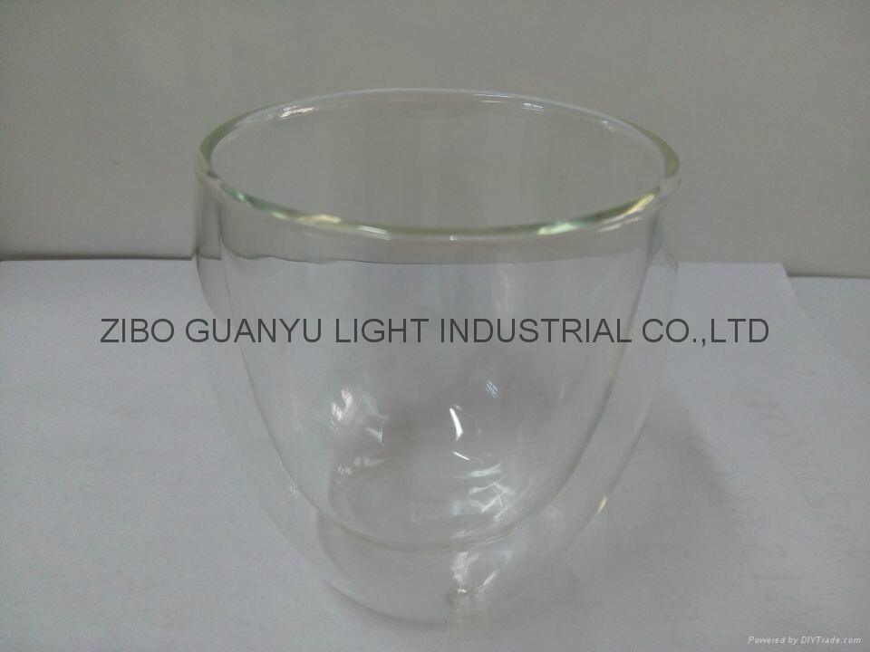 Double wall glass mug without handle coffee mug 2