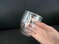 Double wall glass mug without handle coffee mug 3