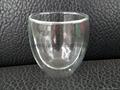 Double wall glass mug without handle coffee mug 1
