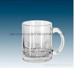 11oz Glass Mug, sublimation mug