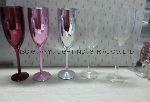 Electroplating champagne glass 2