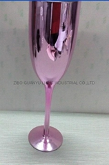 Electroplating champagne glass