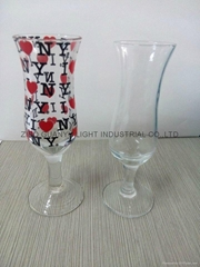 20&50ml clear wine glass