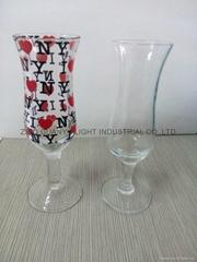 20&50ml clear wine glass