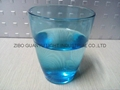 350ml Blue glass cup glass mug