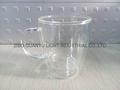 300ml Double wall Glass Mug With Handle,heat-resistant 4