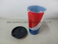 16OZ Sublimation glass mug with plastic  cover 6