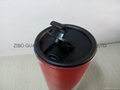 16OZ Sublimation glass mug with plastic  cover 8