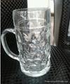 1000ml  bump glass beer  glass mug